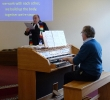 John Bailey playing for Andrew's hymn