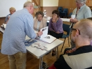 Clive explaining maquettes