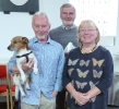 David Grimwood and Jacqui Hicks with Clive Hicks-Jenkins (and Jack)
